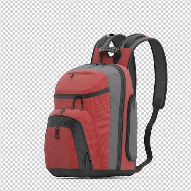 Isometrischer rucksack Premium PSD