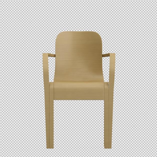 Isometrischer stuhl 3d übertragen Premium PSD
