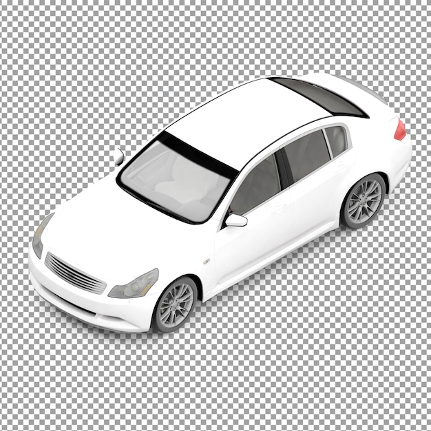 Isometrisches auto Premium PSD