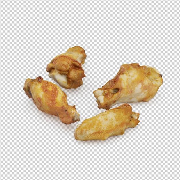 Isometrisches fast food Premium PSD