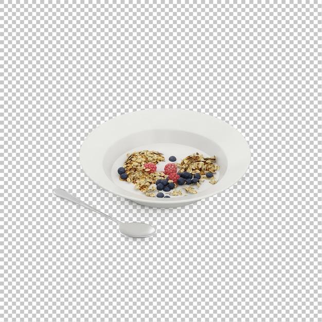 Isometrisches frühstück Premium PSD
