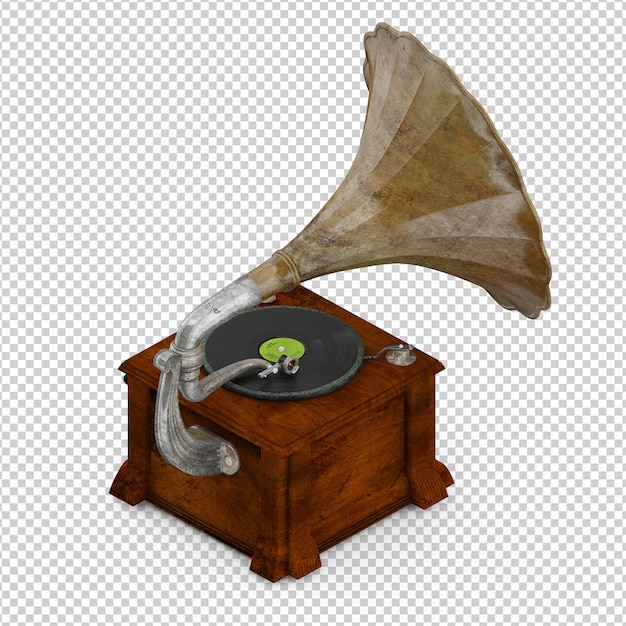 Isometrisches grammophon Premium PSD