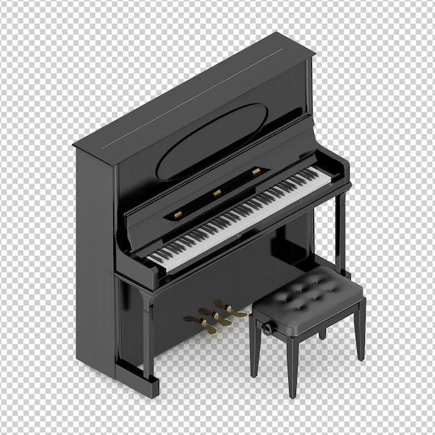 Isometrisches klassisches klavier Premium PSD