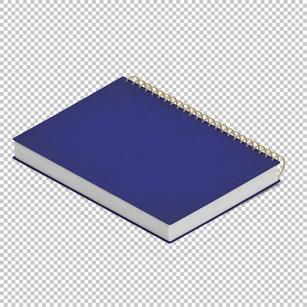 Isometrisches notizbuch Premium PSD