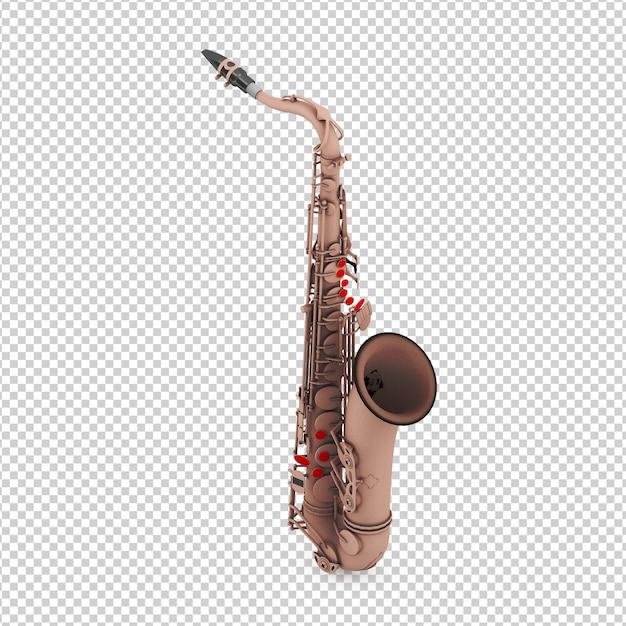 Isometrisches saxophon Premium PSD