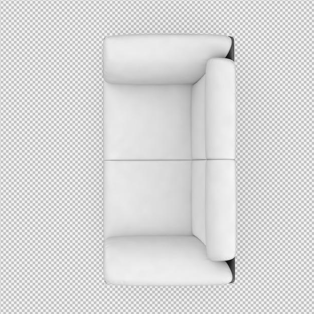 Isometrisches sofa 3d übertragen Premium PSD