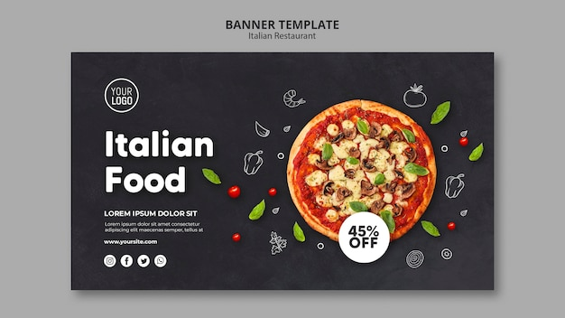 Italienische restaurant banner vorlage Kostenlosen PSD