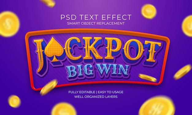 Jackpot big win text effekt Premium PSD