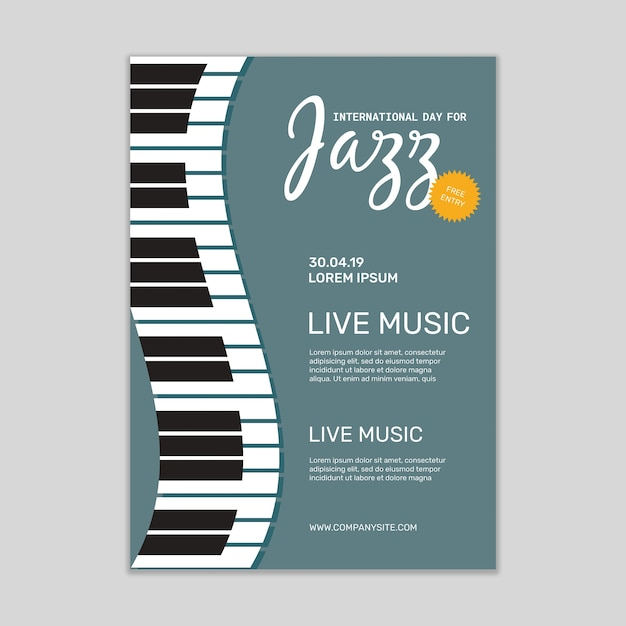 Jazz-musikposter-modell Kostenlosen PSD