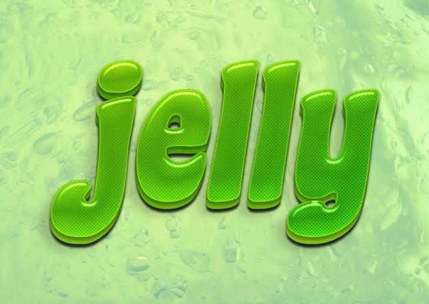 Jelly green 3d font effect Premium PSD