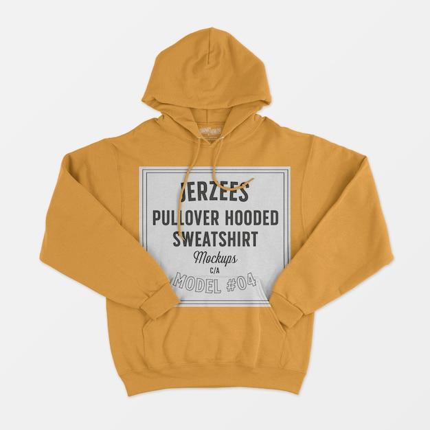 Jerzees pullover mit kapuze sweatshirt modell Kostenlosen PSD