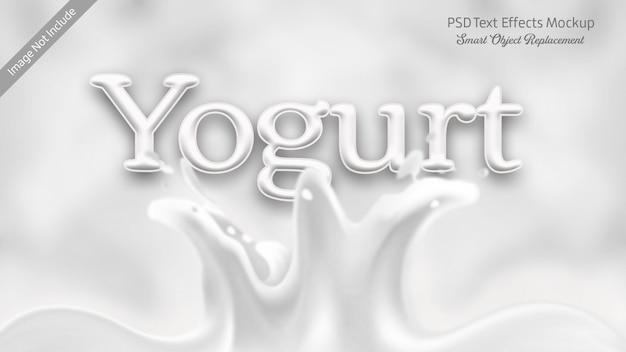 Joghurt 3d-text-effekt Premium PSD