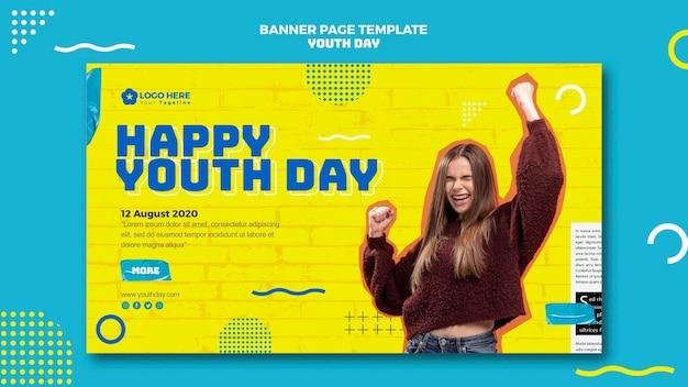 Jugendtag event banner design Kostenlosen PSD