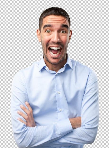 Junger mann lacht Premium PSD