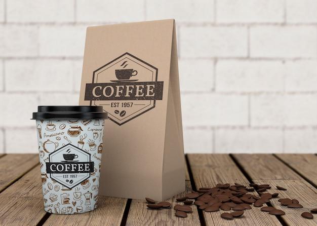 Kaffee-beutel-modell Kostenlosen PSD