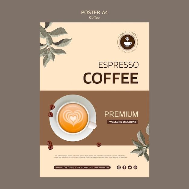 Kaffee-plakat-vorlage Kostenlosen PSD