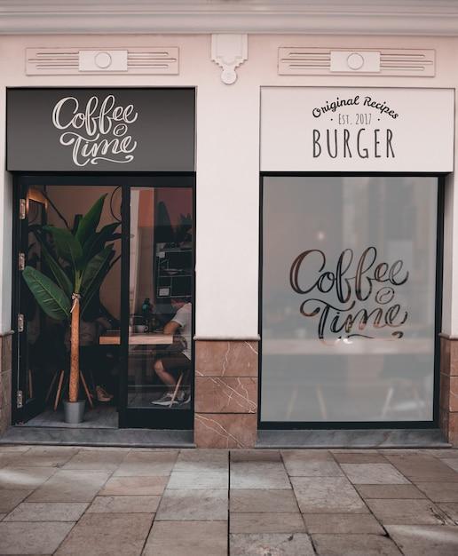 Kaffee und burger zeit restaurant Kostenlosen PSD