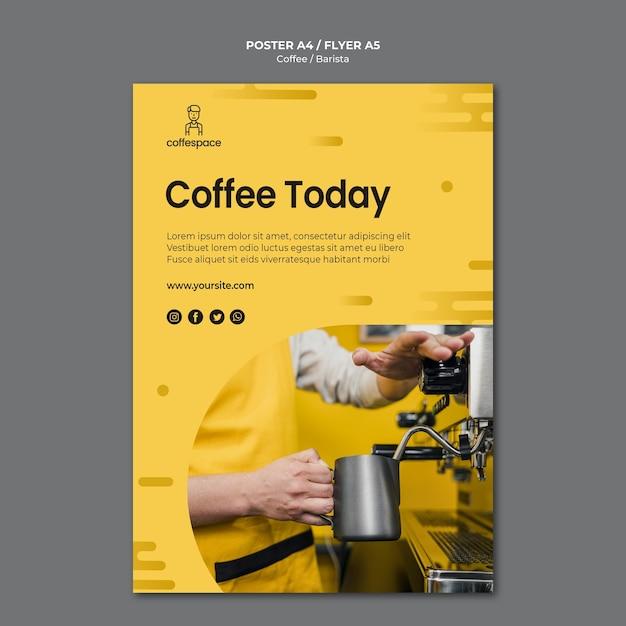 Kaffeekonzeptplakatschablone Kostenlosen PSD