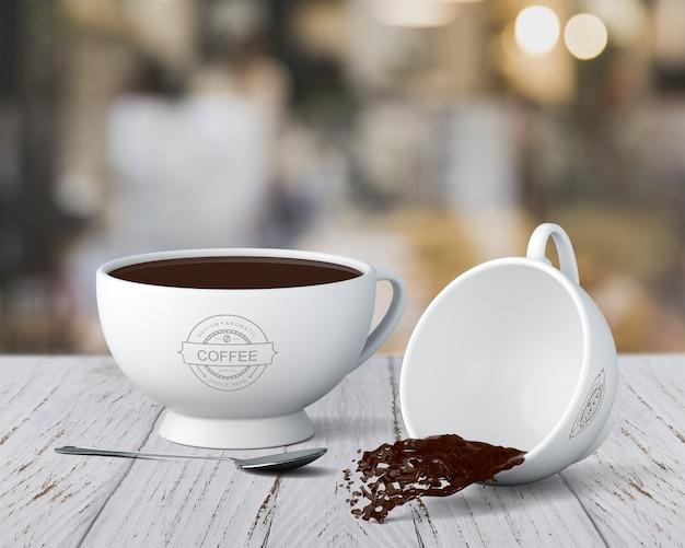 Kaffeetasse-modell Kostenlosen PSD