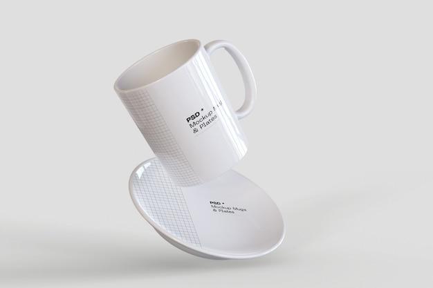 Kaffeetasse und teller modell Premium PSD