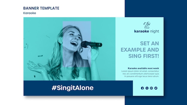 Karaoke-konzept-banner-vorlage Kostenlosen PSD