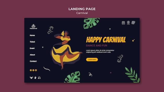 Karneval landing page Kostenlosen PSD
