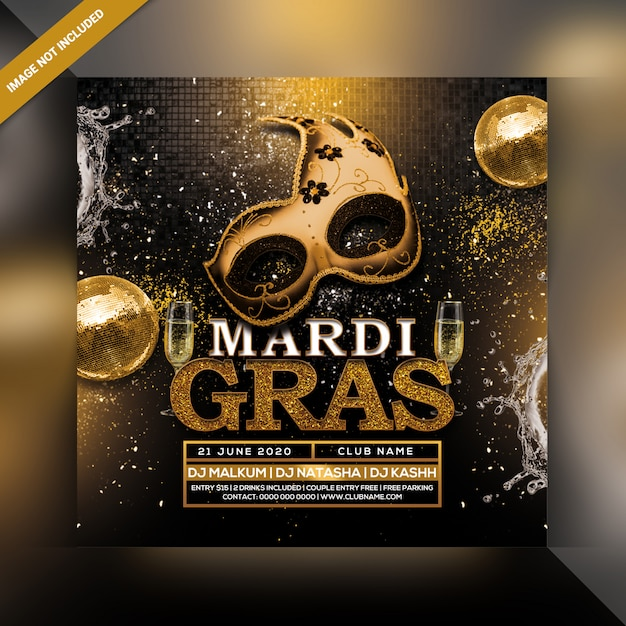 Karneval party flyer Premium PSD