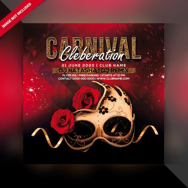 Karneval party flyer Premium PSD