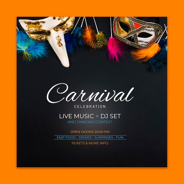 Karnevals-cover-modell Kostenlosen PSD