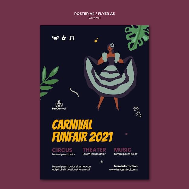 Karnevalsplakatschablone Kostenlosen PSD