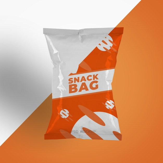 Kartoffelchips plastikverpackung oder lebensmittelbehältermodell Premium PSD