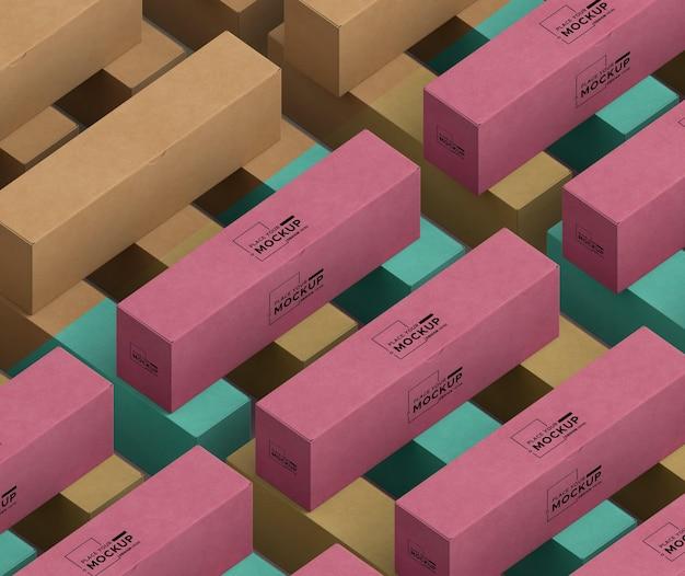Kartonverpackungen sortiment high angle Premium PSD