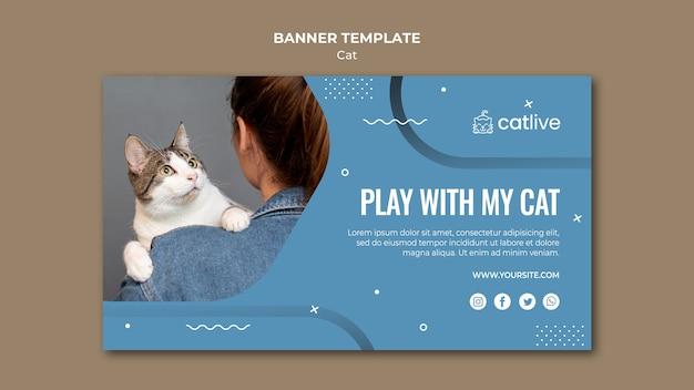Katzenliebhaber-banner-schablonenstil Kostenlosen PSD