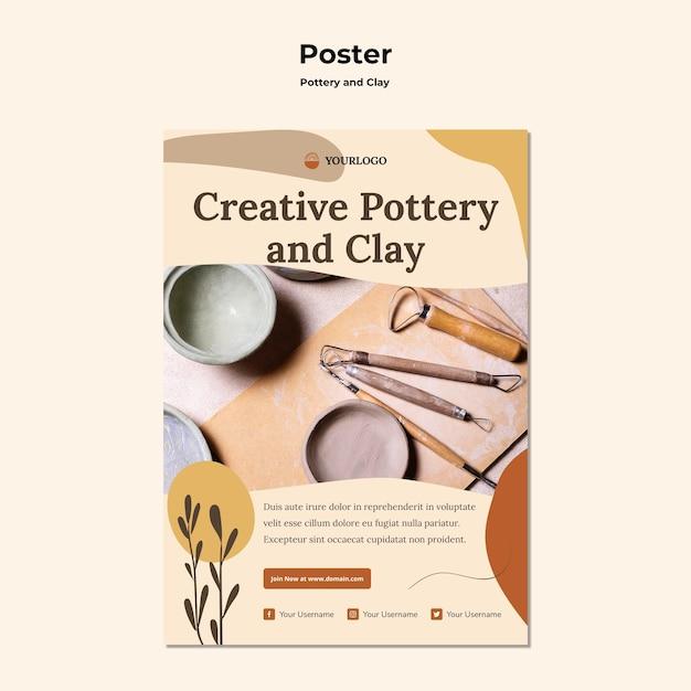 Keramik und ton anzeigenvorlage poster Kostenlosen PSD