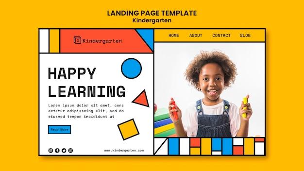 Kindergarten anzeige landingpage vorlage Premium PSD