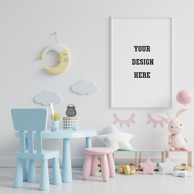 Kinderspielzimmer mit mock-up-poster Kostenlosen PSD
