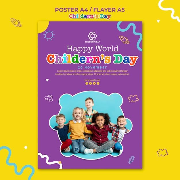 Kindertag flyer vorlage Kostenlosen PSD