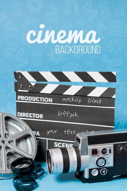 Kinofilm schiefer und kamera Kostenlosen PSD