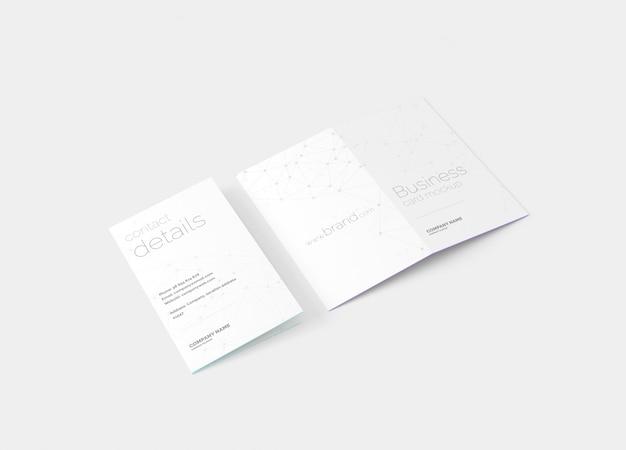 Klappvisitenkarten-modell Premium PSD