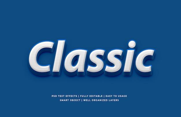 Klassische blaue farbe des texteffekts des jahres 2020 Premium PSD