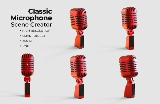 Klassischer mikrofonszenen-ersteller Premium PSD