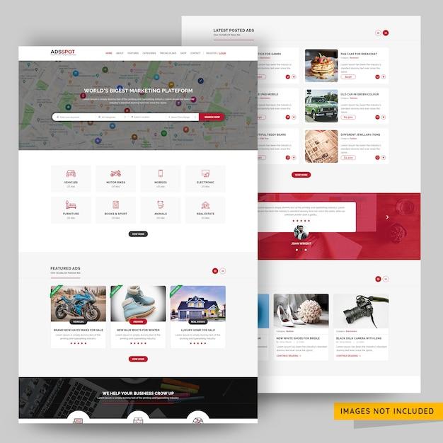 Kleinanzeigen veröffentlichen website psd-vorlage Premium PSD