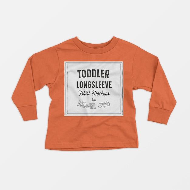 Kleinkind-longsleeve-t-shirt-modell 04 Kostenlosen PSD