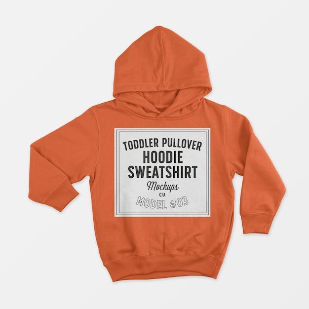 Kleinkind pullover hoodie sweatshirt modell Kostenlosen PSD