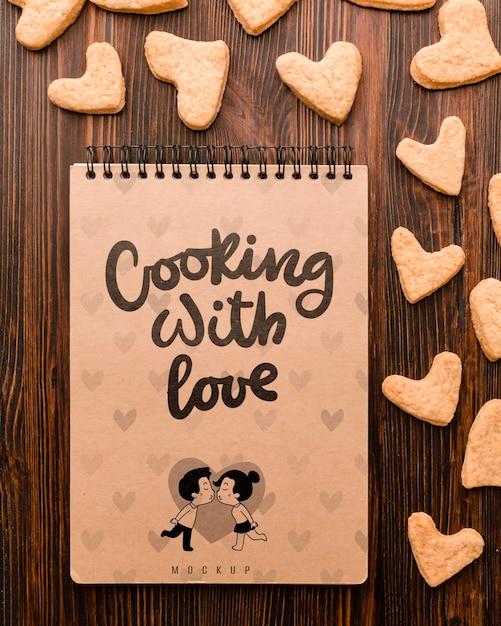 Kochen mit liebeskonzept Kostenlosen PSD