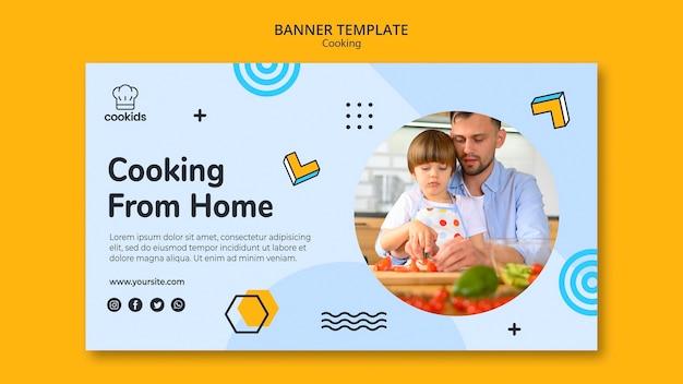 Kochen zu hause banner vorlage Kostenlosen PSD