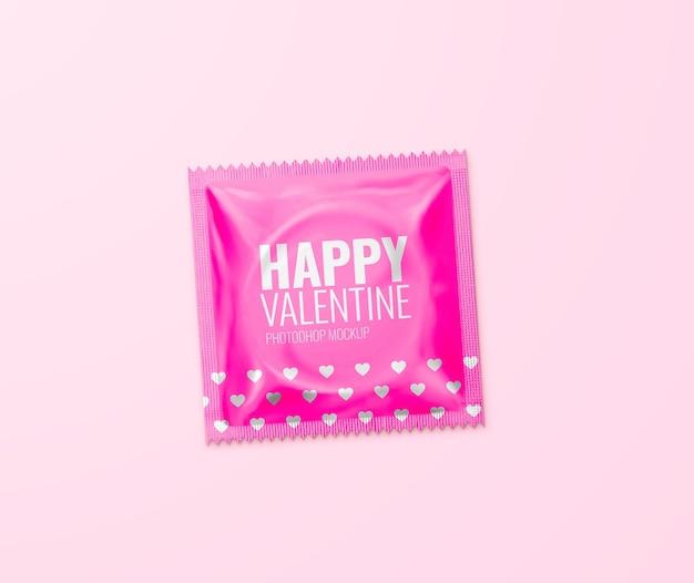 Kondom modell glücklich valentinstag Premium PSD