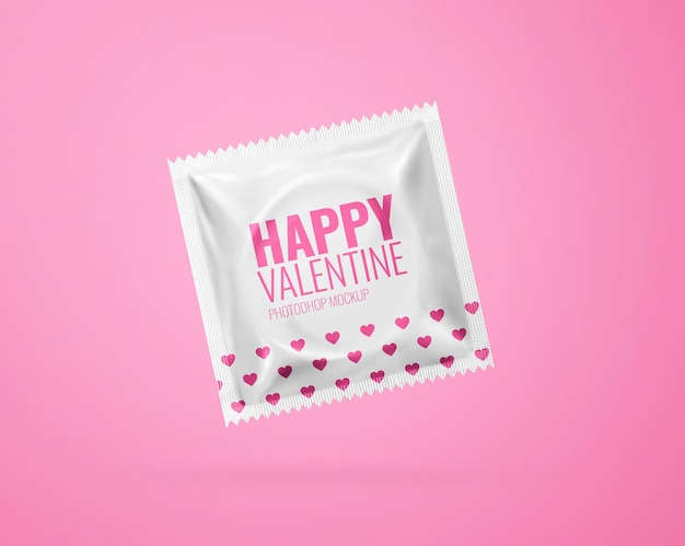 Kondom modell realistisch isoliert Premium PSD