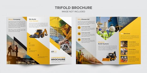 Konstruktion dreifach gefaltet broschüren vorlage Premium PSD