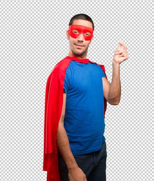 Konzept eines superhelden besorgt um seine wirtschaft Premium PSD